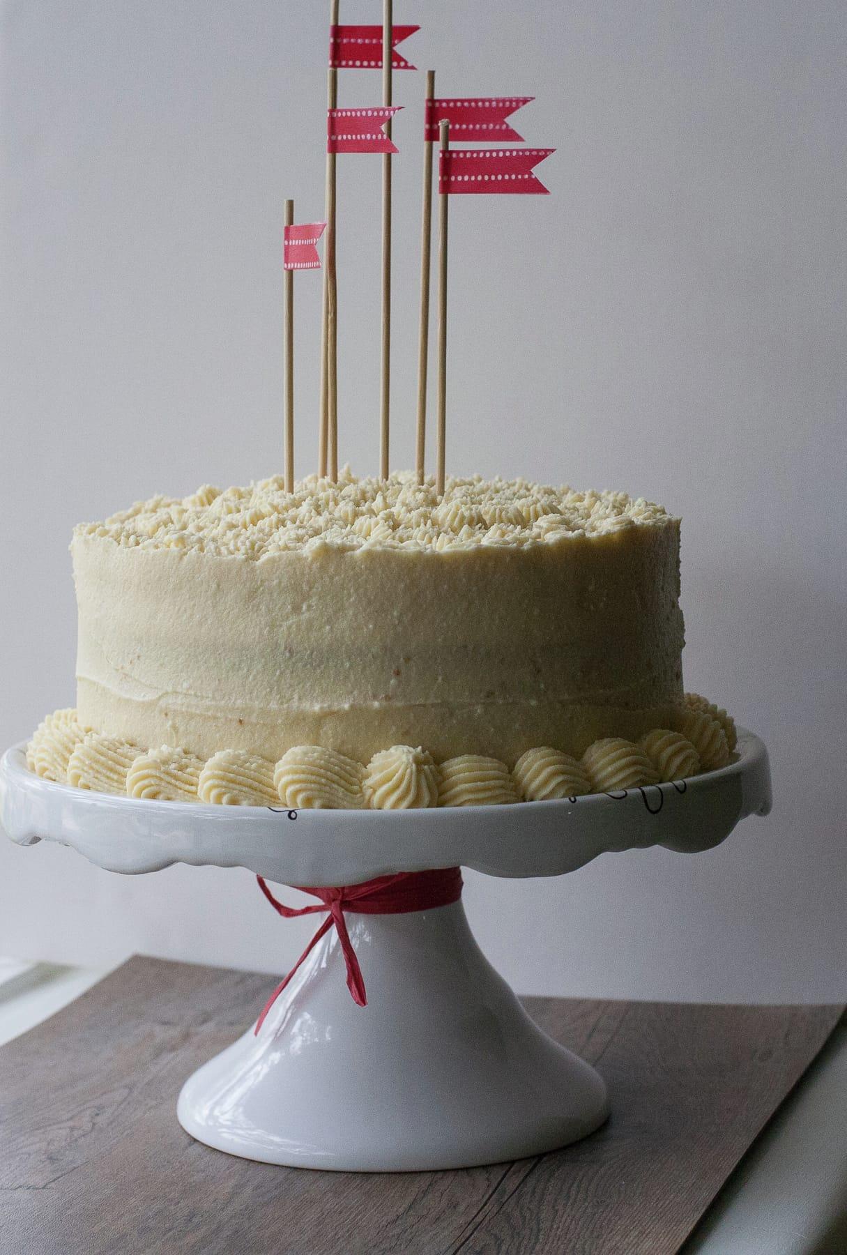 Torta bizcocho vainilla y mermelada