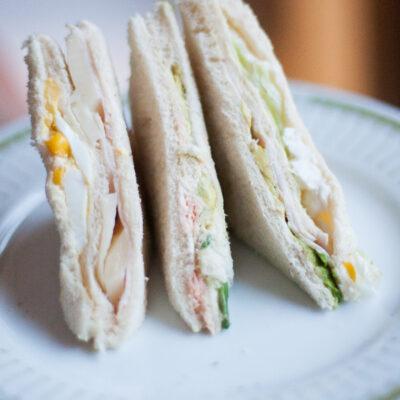Sandwich de miga o de 3 pisos