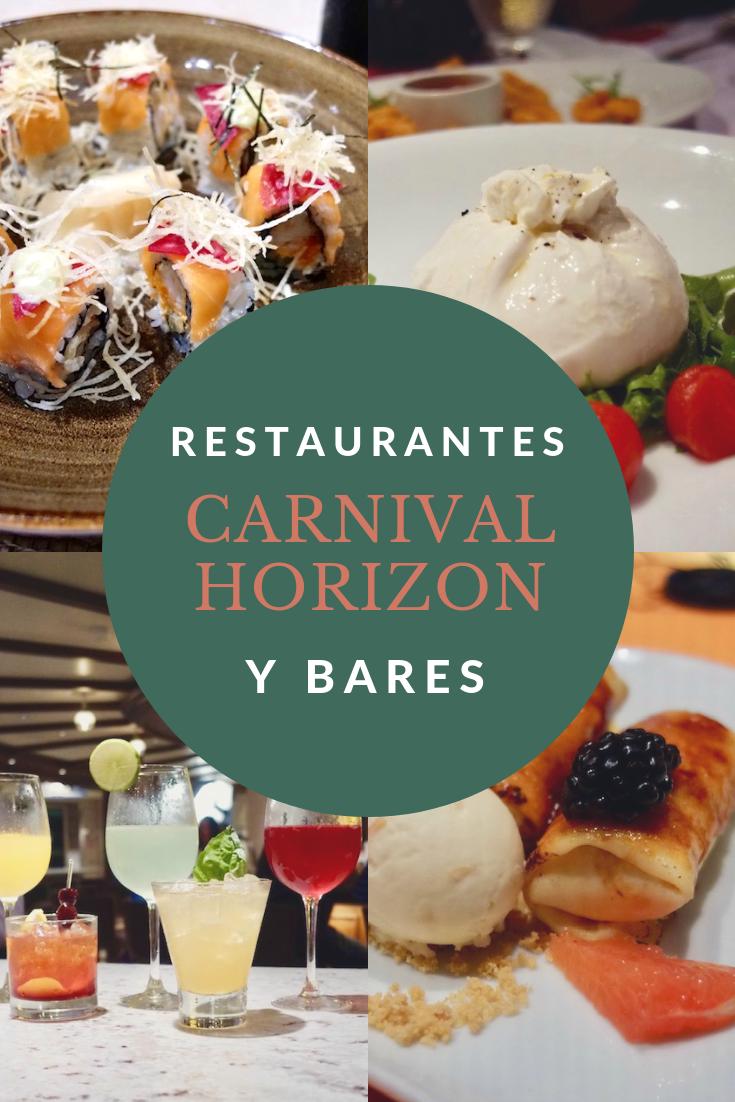 Restaurantes pagados en Carnival Horizon